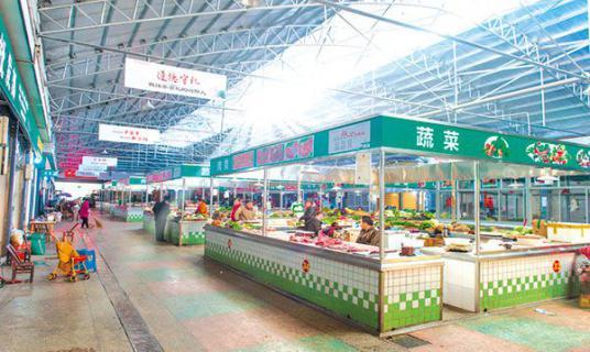 """浏阳城区4家农贸市场华丽""""蜕变�? width="""
