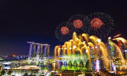 澳门网上投注官网烟花惊艳新加坡