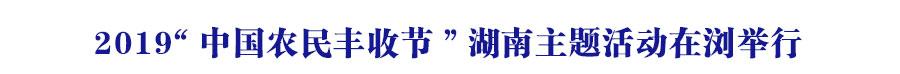 2019鈥滀腑鍥藉啘姘戜赴鏀惰妭鈥濇箹鍗椾富棰樻椿鍔ㄥ湪娴忎妇琛�